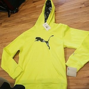 New boys athletic puma neon hoodie final drop